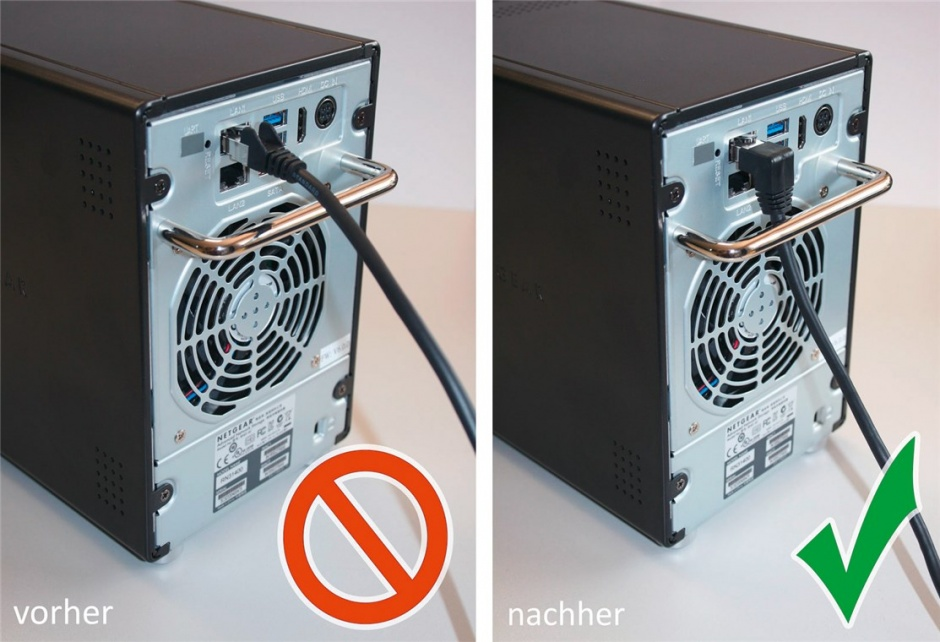 Imagine Cablu de retea cat 6A UTP cu 1 unghi 90 grade 10m Negru, Goobay G51533