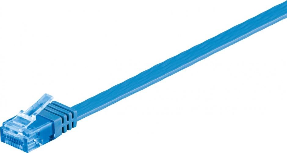 Imagine Cablu de retea RJ45 CAT 6A flat UTP 2m Albastru, Goobay 96317