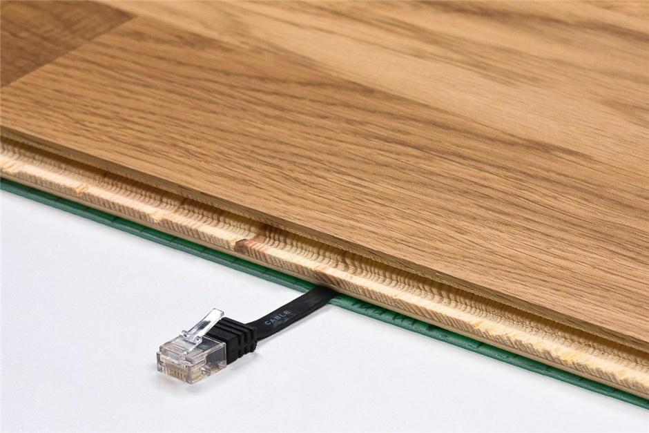 Imagine Cablu de retea RJ45 CAT 6A flat UTP 20m Negru, Goobay 96389