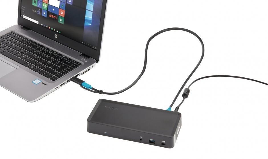 Imagine Docking station USB-C & USB 3.0 la HDMI/Displayport/Gigabit LAN/4 x USB 3.0, Kensington K38240EU