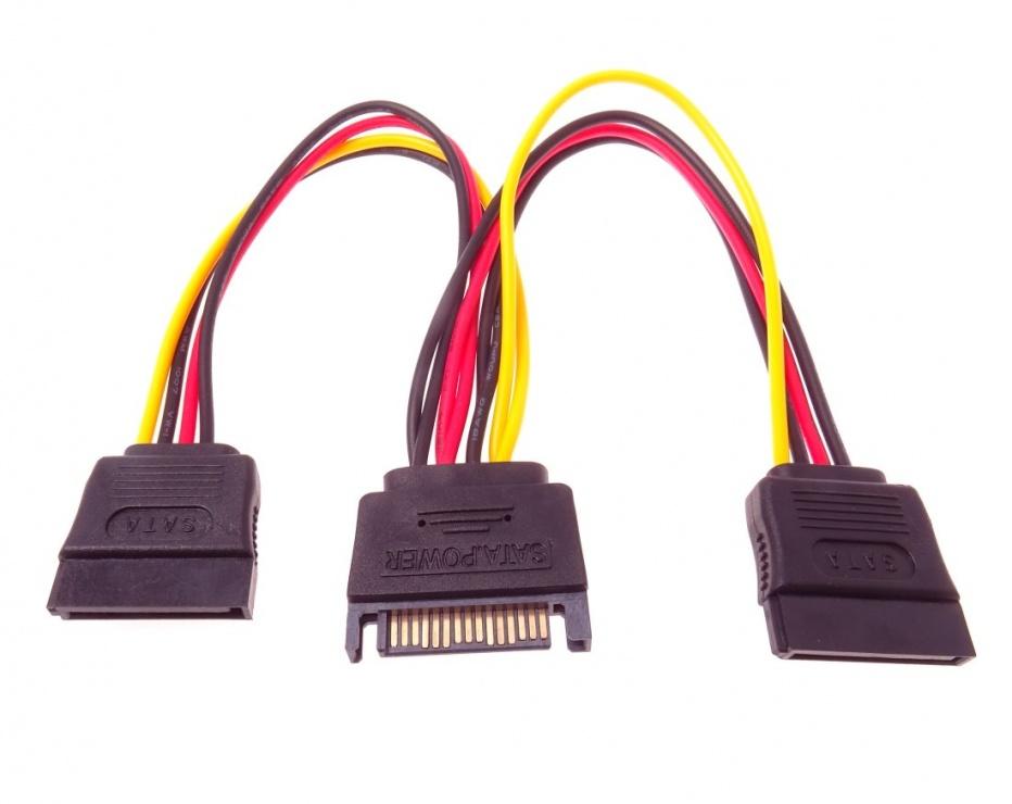 Imagine Cablu de alimentare SATA la 2 x SATA, kfsa-21