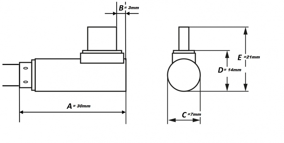 Imagine Cablu USB 3.0-C unghi 90 grade la USB-A 3m T-T Negru, KU31CZ3BK