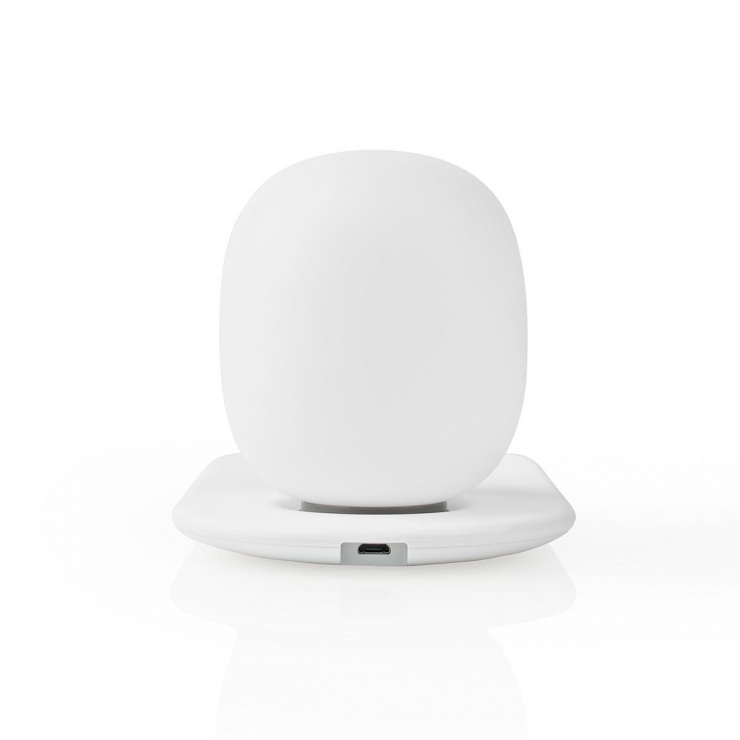 Imagine Lampa LED cu incarcator wireless Qi 10W, Nedis LTLQ10W1WT
