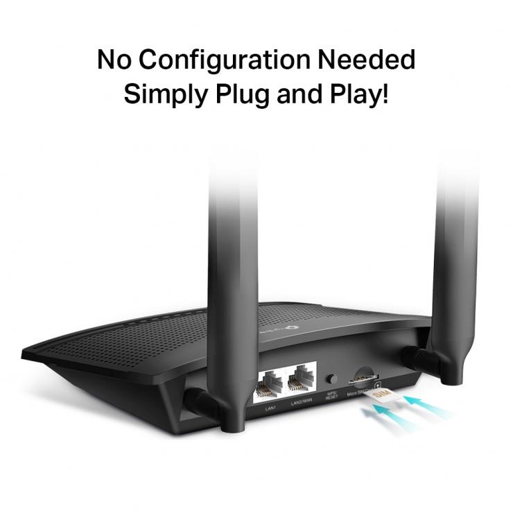 Imagine Router Wireless N 4G LTE 300 Mbps, TP-LINK TL-MR100