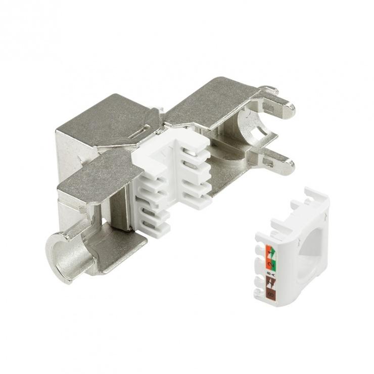 Imagine Modul Keystone RJ45 SFTP cat.6A pentru fir solid AWG22-26, Logilink NK4003