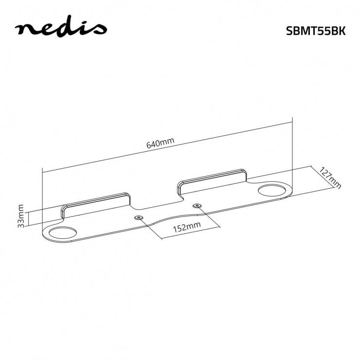 Imagine Suport soundbar montare perete, Nedis SBMT55BK