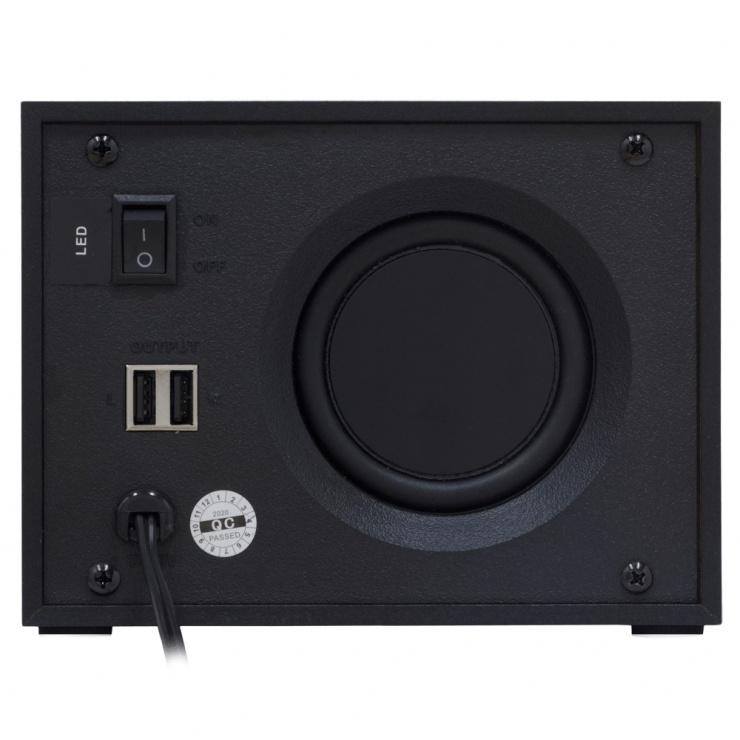 Imagine Boxe 2.1 alimentare USB 11W Negru, Spacer SPB-THUNDER