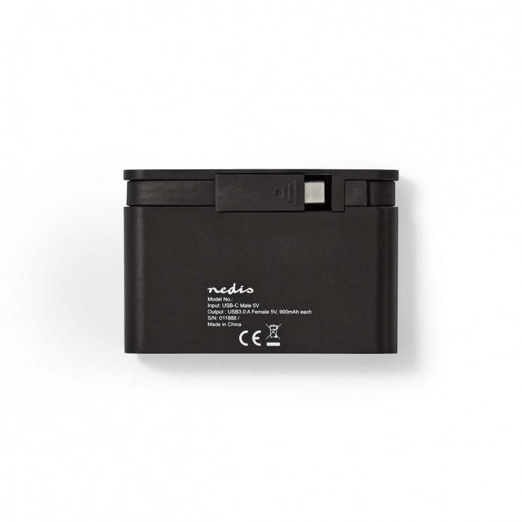 Imagine HUB USB 3.2 Gen 1 type C la 4 x USB-A, TCARF200BK