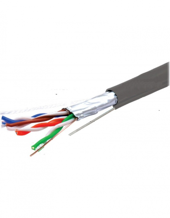 Imagine Rola cablu de retea RJ45 FTP cat. 5e cu sufa CU 305m Gri, TE088584