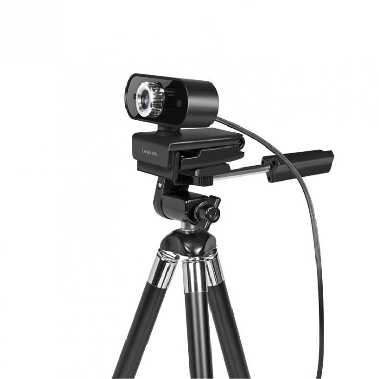 Imagine Camera web cu microfon Pro Full HD USB, Logilink UA0371