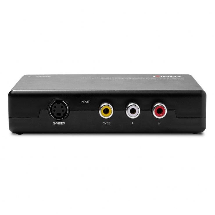Imagine Convertor Composite RCA/ S-Video la HDMI, Lindy L38394