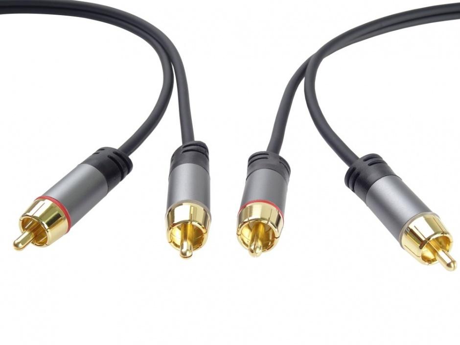 Imagine Cablu audio 2 x RCA la 2 x RCA T-T 1.5m, kjqccmm015