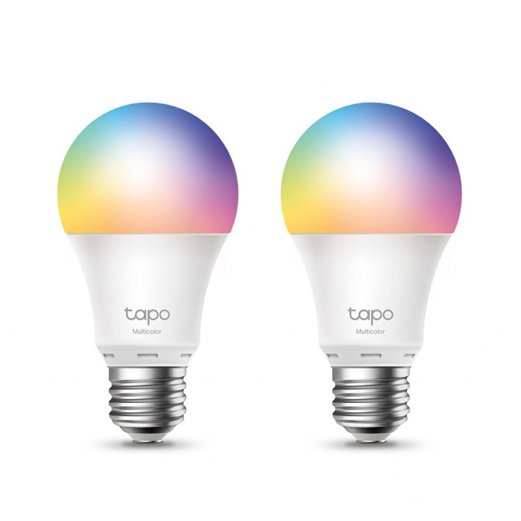 Imagine Set 2 becuri Smart Wi-Fi Multicolor, TP-LINK Tapo L530E(2-pack)
