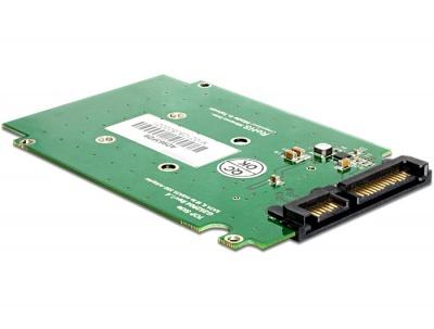 """Imagine Adaptor SATA 22pini la mSATA cu frame 2.5"""", Delock 62432-1"""