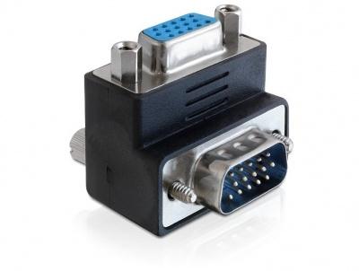 Imagine Adaptor VGA T - M unghi de 270 grade, Delock 65247