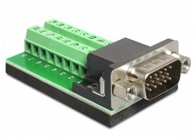 Imagine Adaptor VGA 15 pini T la Bloc Terminal 16pini, Delock 65424