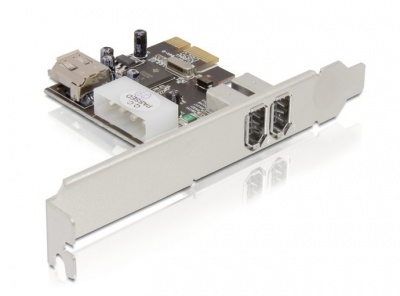 Imagine PCI Express FireWire A cu 3 porturi, Delock 89121