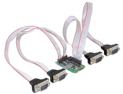Imagine Mini PCIe I/O PCIe full size 4 x serial RS-232 cu Power Management, Delock 95001
