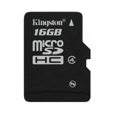 Imagine Card de memorie micro SDHC + adaptor 16GB clasa 4 KINGSTON-1