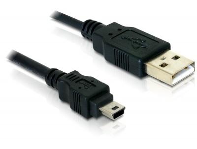 Imagine Cablu USB 2.0 la mini USB-B 5pini T-T 1.5m, Delock 82252