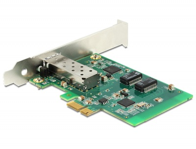 Imagine PCI Express Card cu 1 x SFP Slot Gigabit LAN, Delock 89368