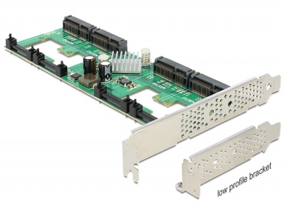 Imagine PCI Express Card cu 4 porturi mSATA cu RAID, Delock 89373