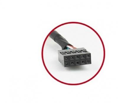 Imagine Bracket 2 porturi USB 2.0, Gembird CCUSBRECEPTACLE-1