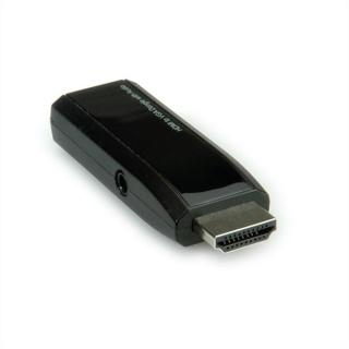 Adaptor HDMI la VGA cu audio T-M Negru, Roline 12.03.3117