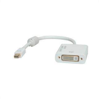 Adaptor Mini Displayport la DVI 4K T-M alb, Roline 12.03.3137