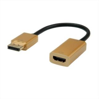 Adaptor Displayport la HDMI v1.2 Activ 4K2K Gold, Roline 12.03.3170