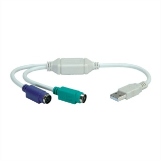 Adaptor USB la 2 X PS/2 T-M, Value 12.99.1075