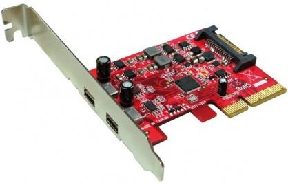PCI Express cu 2 x USB 3.1 tip C, Roline 15.06.2143