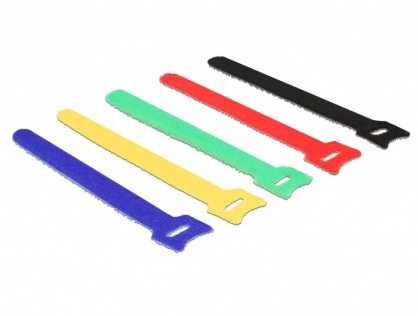 Curele pentru prindere cabluri colorate 200 x 12 mm 10buc, Delock 18635