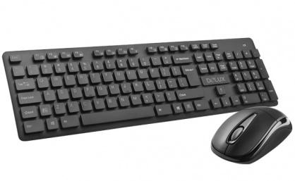 Kit wireless tastatura si mouse waterproof, Delux KA150G