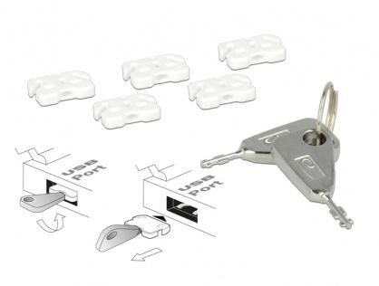Sistem pentru blocarea portului USB-A, Delock 20648
