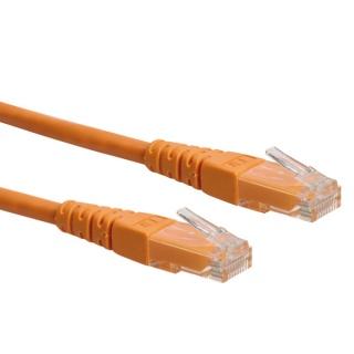 Cablu retea UTP Roline Cat.6 orange, 0.5m, 21.15.1527