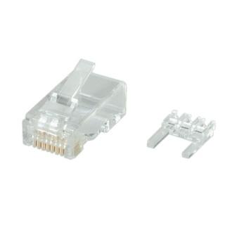 Set 10 buc mufe RJ45 cat 6 UTP neecranate pentru fir solid, cu insertie, Roline 21.17.3062