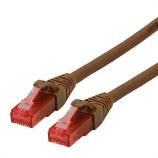 Cablu de retea UTP Patch Cord Cat.6A Component Level LSOH Maro 1m, Roline 21.15.2781