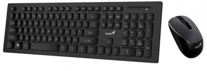 Kit wireless tastatura + mouse Negru Slimstar 8008, Genius 31340001400