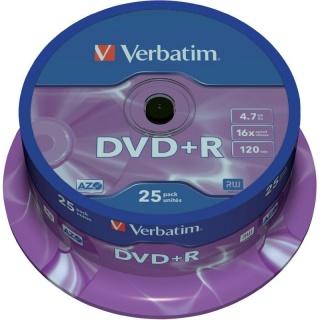 DVD+R Verbatim Matt Silver SL 16X 4.7 GB 25 buc