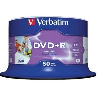 DVD+R Verbatin Inkjet Printable SL 16X 4.7GB 50 buc