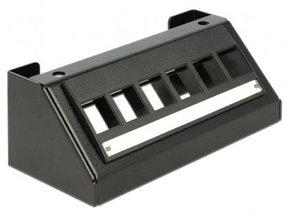 Carcasa Multimedia pentru Keystone 6 porturi Negru, Delock 86268