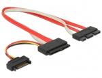 Cablu SATA Express 18 pini + alimentare SATA la SATA Express 29 pini T-T 30cm, Delock 84767