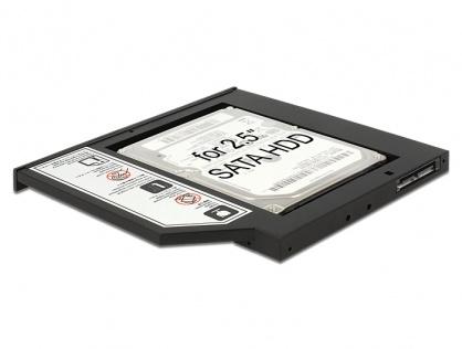 "Installation Frame (Caddy) Slim SATA 5.25 pentru 2.5"" SATA HDD 9.5mm, Delock 62669"