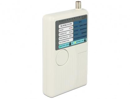 Tester RJ45 / RJ12 / BNC / USB, Delock 86106