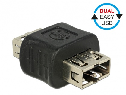 Adaptor EASY-USB 2.0 tip A M-M, Delock 65642