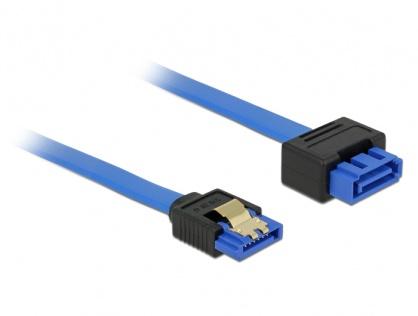 Cablu prelungitor SATA III 6 Gb/s T-M bleu latchtype 70cm, Delock 84974