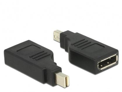 Adaptor mini Displayport la Displayport T-M Negru 4K 60 Hz unghi 90°, Delock 65626