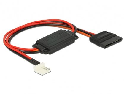 Cablu de alimentare conversie voltaj Floppy 4 pini 5V la SATA 15 pini 3.3V + 5V T-M, Delock 62906
