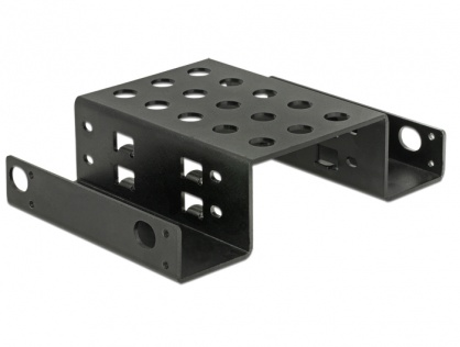 "Kit de montare 2 x 2.5"" HDD in bay 5.25"" Negru metal, Delock 18270"